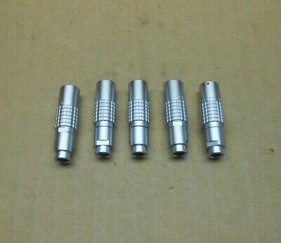 Lot Of 5 New Lemo Phg.1b.306.clzz Circular Push Pull Connectors 18 Available