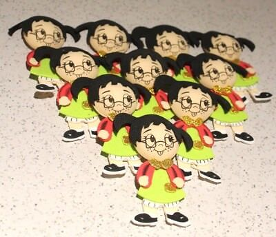 LA CHILINDRINA BIRTHDAY PARTY SUPPLY OR DECORATION FOAM FIGURES GLITTER 10 PACK  - Foam Figures