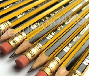 6 x STAEDTLER NORIS PENCILS with ERASER RUBBER TIP HB DRAWING SCHOOL DESIGN ART