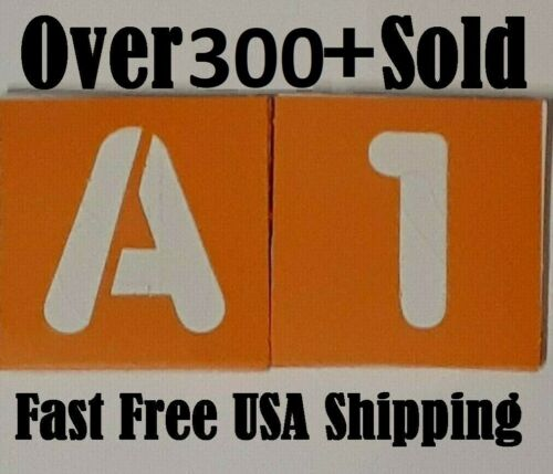 36 Numbers & Letters Cardboad STENCILS 2 Inch with 26 Alphabet 10 Nums FREE SHIP