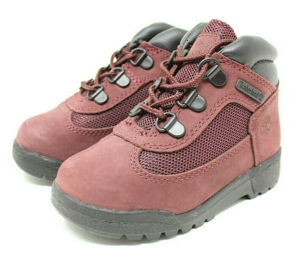 Timberland Field Boot TD # TB0A1ATT Burgundy Toddler SZ 8