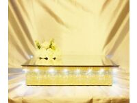 Can Post LED Light Up Wedding Cake Stands some Ex-Display Diamond Lace Pearl Rhinestone Crystal