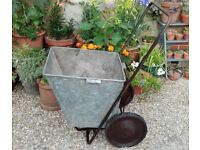 Vintage ladies wheelbarrow