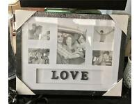 Love Photo Frame Brand New Sealed Black Frame