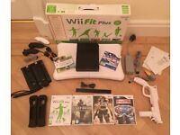 Nintendo Wii, 6 Games, Wii Fit Balance Board and Full accessories