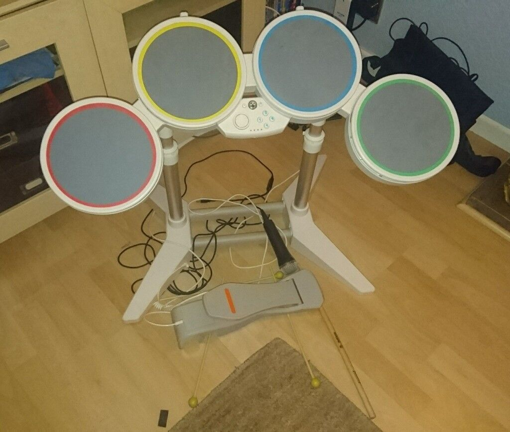 Nintendo Wii Rock Band Drum Kit and Game