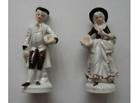 Pair of Porcelain Figurines, Male & Female Statuettes, J.B.G. of London
