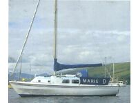 Westerley 26 ft Finn Keel Yacht **PRICE GREATLY REDUCED DUE TO ILLNESS**