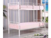 SPECIAL DEAL OFFER **METAL BUNK BED SINGLE BOTTOM AND SINGLE TOP STANDARD 3FT SIZE BUNK BED