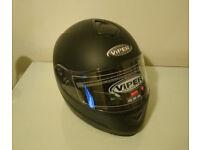 Viper Skull Matt Black Medium Motorbike Helmet