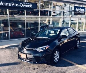 2015 Toyota Corolla LE|ACCIDENT FREE|1 OWNER|EXTREMELY LOW KM'S