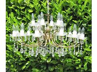 Lovely large 18 lamp crystal chandelier