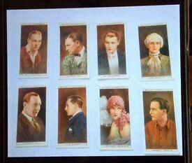 Old Vintage Will's Cigarette Cards 1928. Partial set of 8, very good condition.