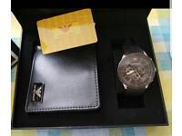 armani gift watch set watch and wallet mens