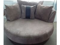 Large 3 seater sofa and large cuddle chair