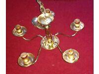 gold/brass ceiling pendant light fitting