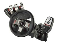 Logitech G27 Racing Wheel, Shifter and Pedals with Playseat Challenge PS3 PS2 PC Windows