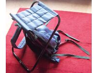 Picnic rucksack with seat