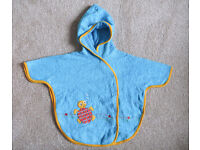 Baby Hooded Toweling Wrap