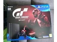 Brand new never used PS4 slimline with Gran Turismo sport