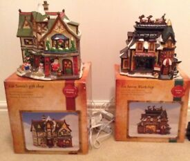 Two Christmas ornaments substantial plug in