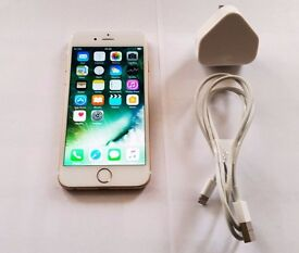 iPhone 6 16Gb White / Gold, charger - NETWORK UNLOCKED - FULLY TESTED - *3 MONTH WARRANTY *