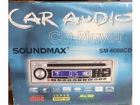 Soundmax car CD player. New in box