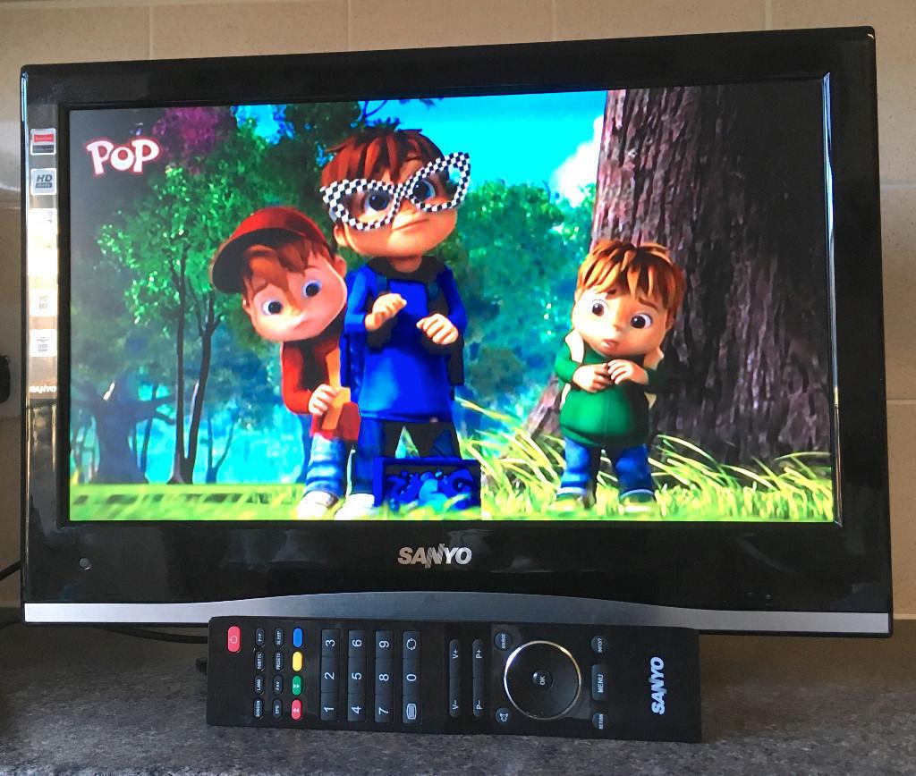 "Sanyo CE19LD08-B 19"" Inch HD HDMI LCD iDTV LED Freeview digital TV ..."
