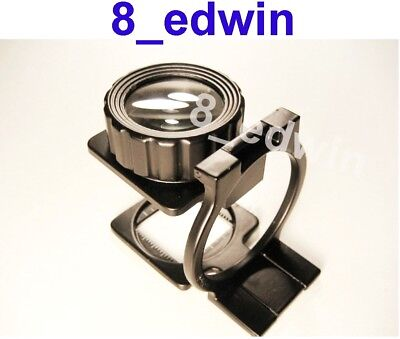 Chrome-Plated Brass Triplet /& Five Elements Premium Quality Jewelers 2-in-1 Eye Loupe 10X 20X