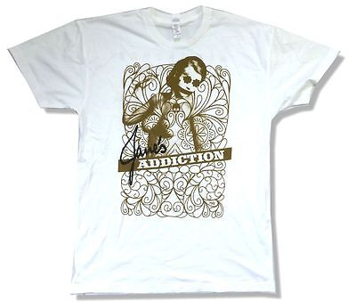 Ninja T (Jane's Addiction Lady Image NINJA Tour 2009 White T Shirt New Official Soft)