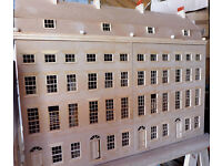 Georgian Terrace Model/Dolls House. Superb detail, 5 floors, attic access. stairs