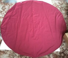 NEW - ROUND TABLECLOTH - CRANBERRY - 173cm diameter