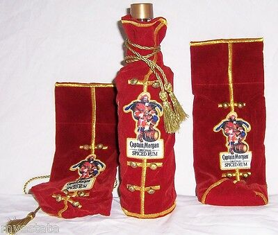 New Lot of 3 Captain Morgan Spiced Rum  bottle covers
