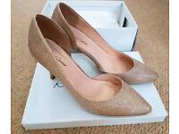 Gold wedding shoes - brand new