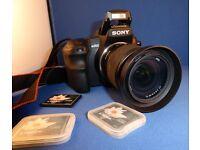Sony DSLR-A200K 10.2MP Digital SLR Camera + Zoom Lens Kit (18-70 mm F3.5-5.6)