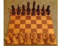 Small Wooden Chess Set (pieces boxed)