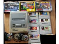 Snes console and games (super nintendo)
