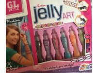 Fashion Jelly Art NEW keyring glitter gift present paint craft