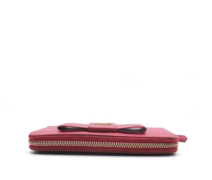 79b6e72b980d PRADA Saffiano Peonia Fiocco Bow Zip Around Wallet | Accessories | Gumtree  Australia Melbourne City - Melbourne CBD | 1204352928