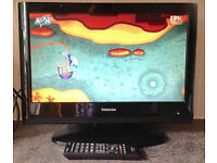 19inch TOSHIBA HD monitor Widescreen HDMI Flat LED LCD TV Digital freeview television