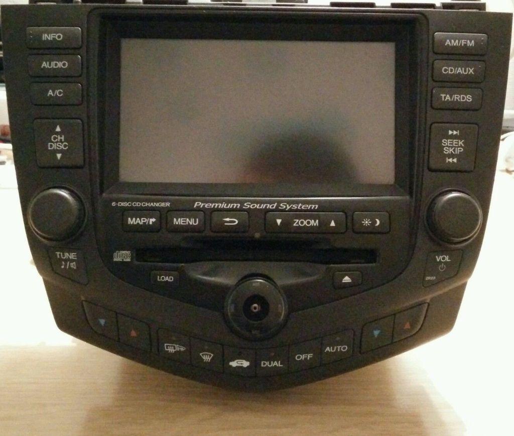 Honda Accord 2003 2005 Gps Dvd Navigation Radio Cd Player