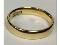 9k Gold Wedding Ring with Full British Hallmark. Great Condition