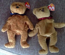 Ty Beanie Babies Fuzz and Curly .....brand new