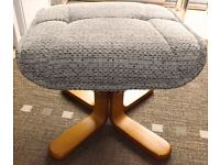 As new condition footstool pouffe foot stool heard wearing cord material