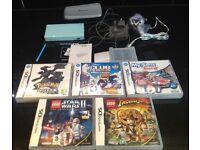 Nintendo DS Lite incl. games Pokemon, My Sims Racing, Lego Starwars & Lego Indiana Jones