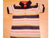 Next Baby Boy's Striped Top T-Shirt with Short Sleeves.Age 6-9 Months.
