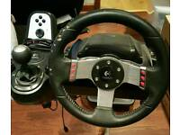 LOGITECH G27 RACING WHEEL - FULL SETUP
