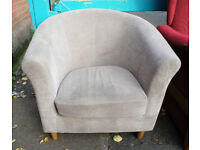 grey tub chair