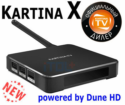 + NEU +   Kartina X - 4k UHD WLAN/WIFI Receiver Kartina.TV + Powered by Dune HD