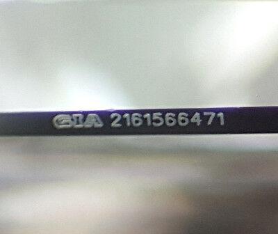 0.77 ct 14K White Gold Princess Cut Diamond Engagement Ring GIA G / VS2 3
